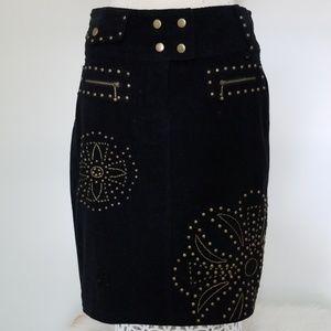 Basil & Maude corduroy skirt